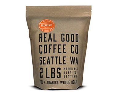 4-Real-Good-Coffee-Co-2LB, -Whole-Bean-Coffee, -Breakfast-Blend-Light-Torréfaction-Coffee-Beans